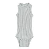 Minipop Denmark Sleeveless Bodysuit - Dusty Green