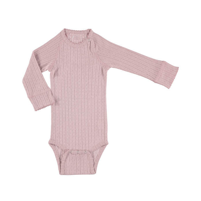 Minipop Denmark L/S Bodysuit - Dusty Rose
