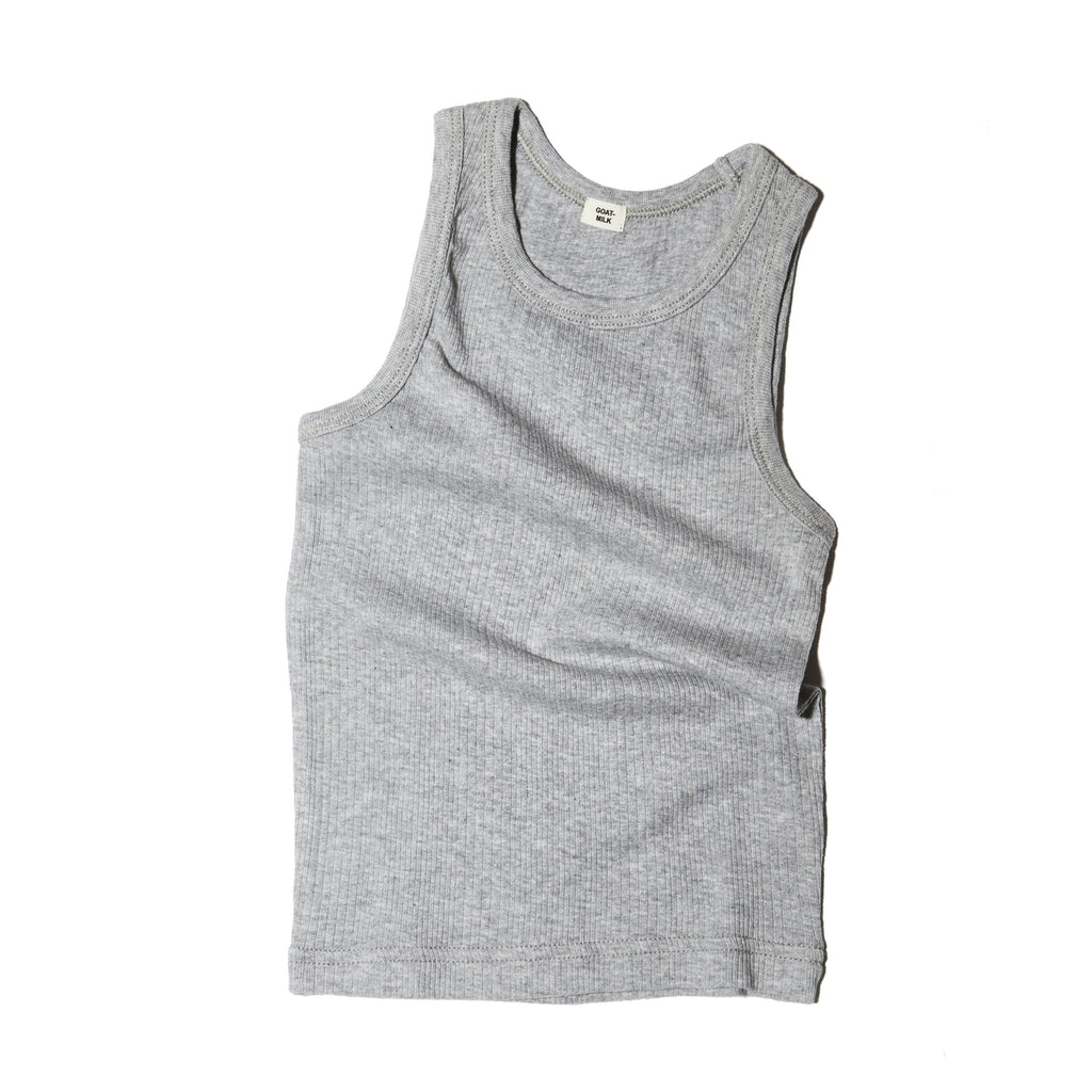 Goat Milk Unisex Tank Top - Ribbed Grey
