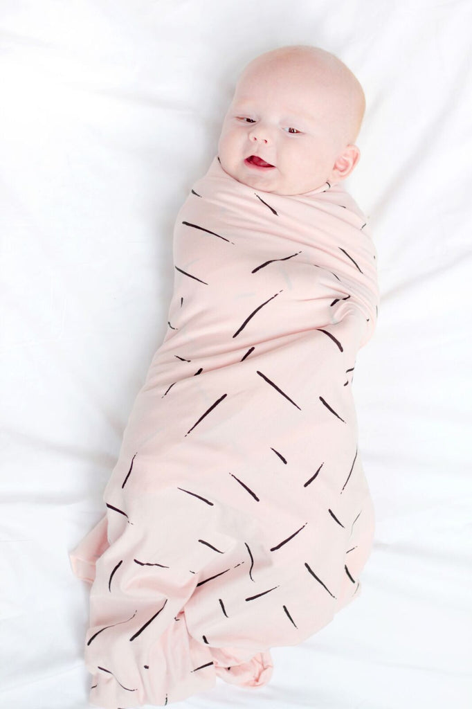 Burrow & Be Pink/Black Dash Wrap