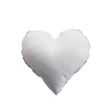 Essi + Co White Heart Cushion