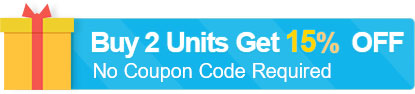 Buy 2 Units Get 15% OFF (No Coupon Code Required)