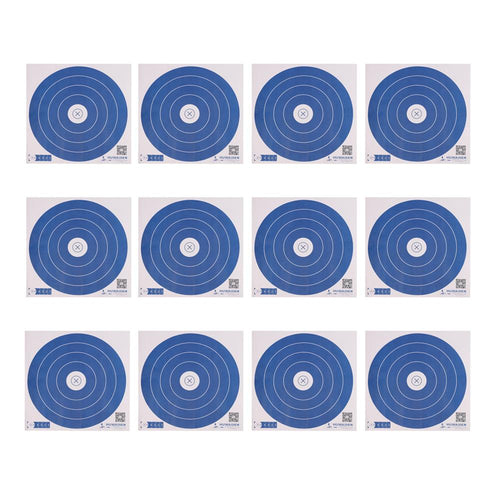 12x Dark Blue 40x40cm Target Faces
