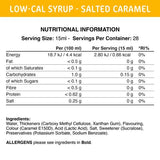 Low-Cal Syrup Salted Caramel Syrup 425 ml Fit Cuisine