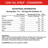 Low-Cal Syrup Strawberry Syrup 425 ml Fit Cuisine