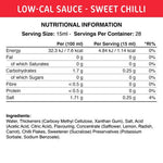 Low-Cal Sauce Sweet Chilli Sauce 425 ml Fit Cuisine