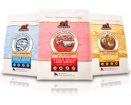 Whole Grain recipes for Ocean Blue Bag, Land Red Bag, and Sky Yellow Bag, Dry Dog Food bags - Grain Free Recipes also available!