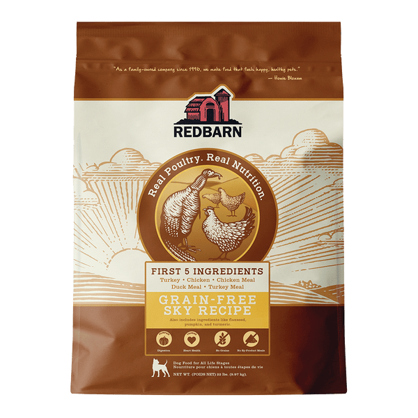 Now Available!<br></br>Grain-Free Sky Recipe Dog Food- Redbarn