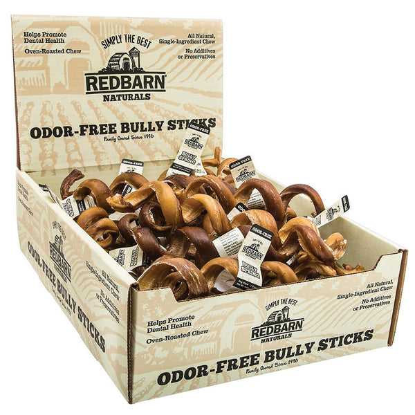 Odor-Free Bully Spring-Dog Treats-redbarn