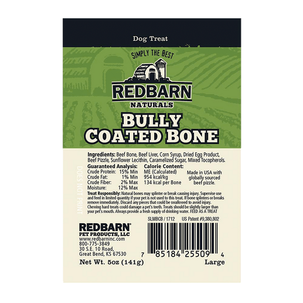 Bully Coated Large Bone- Redbarn