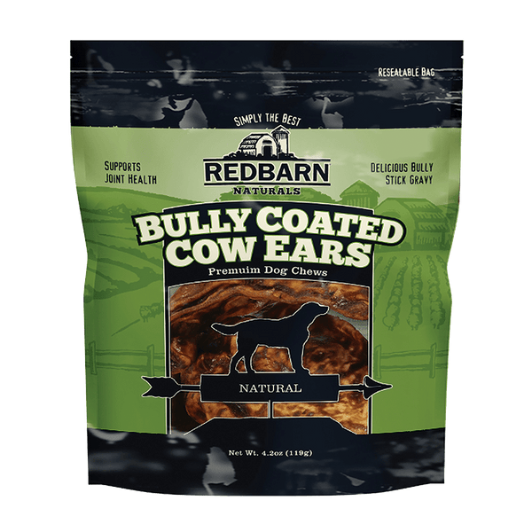 Bully Coated Cow Ears- Redbarn