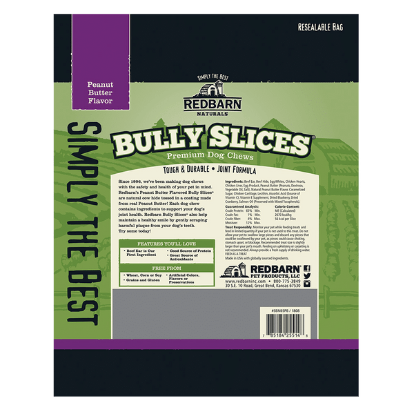 Bully Slices<sup>®</sup> Peanut Butter Flavor- Redbarn