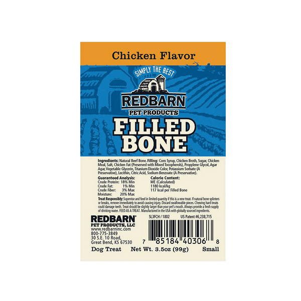 Filled Bone Chicken Flavor- Redbarn