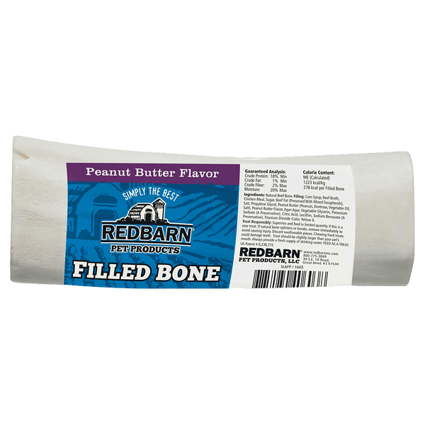 Filled Bone Peanut Butter Flavor- Redbarn
