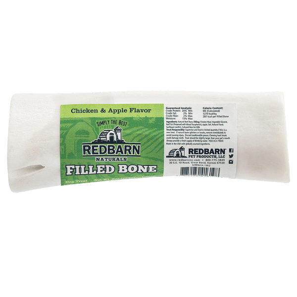Natural Filled Bone Chicken & Apple Flavor- Redbarn