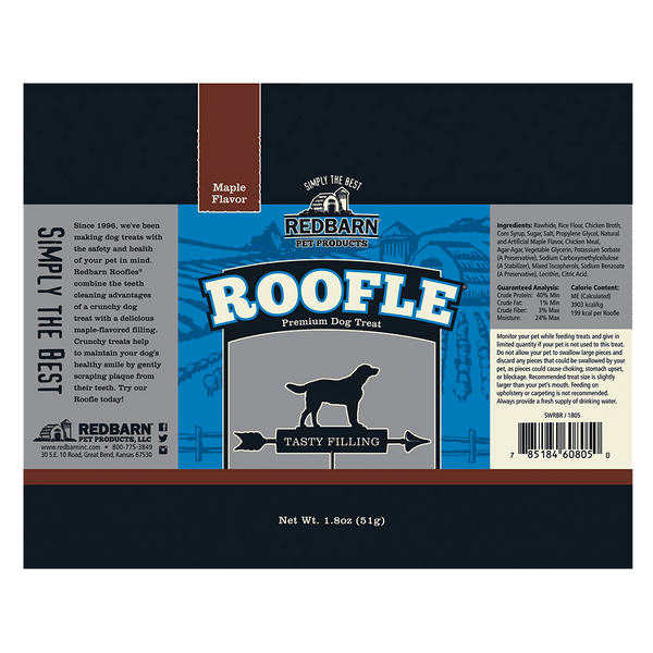 Roofle<sup>®</sup> Maple Flavor- Redbarn