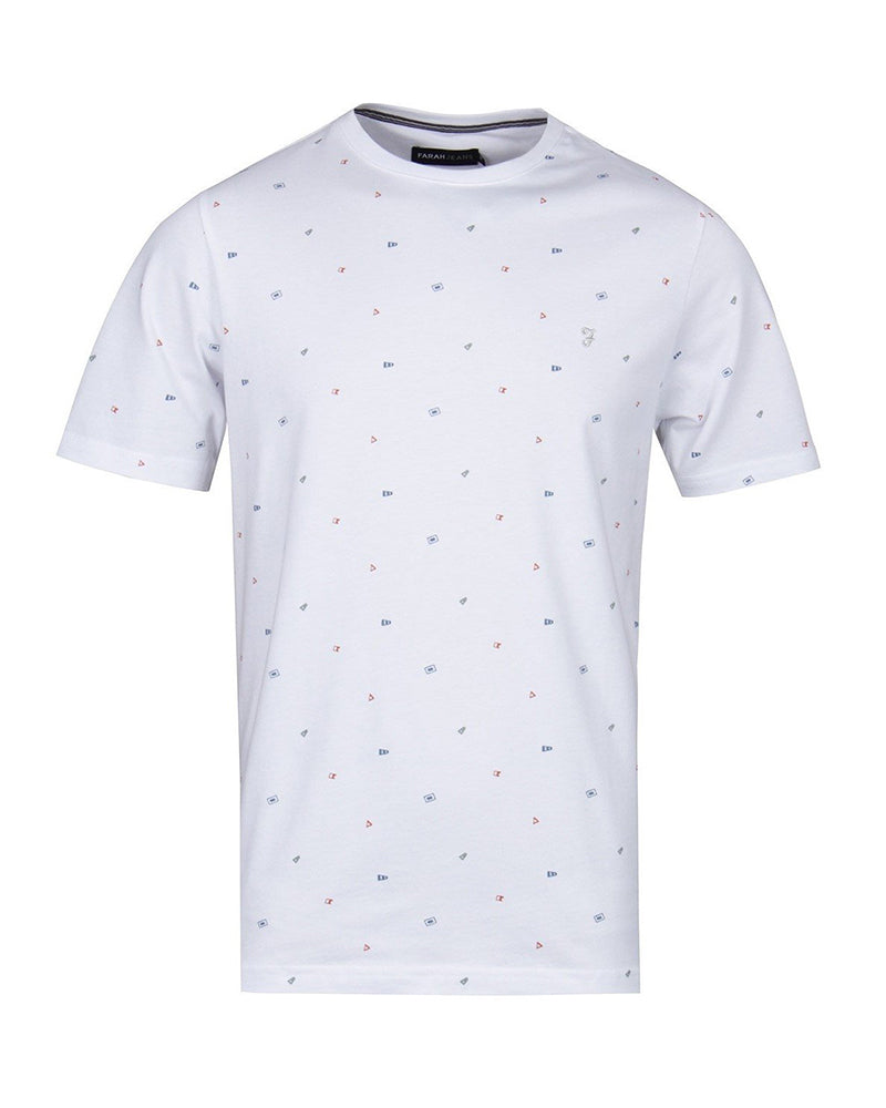 FARAH CUTTY PRINT T-SHIRT