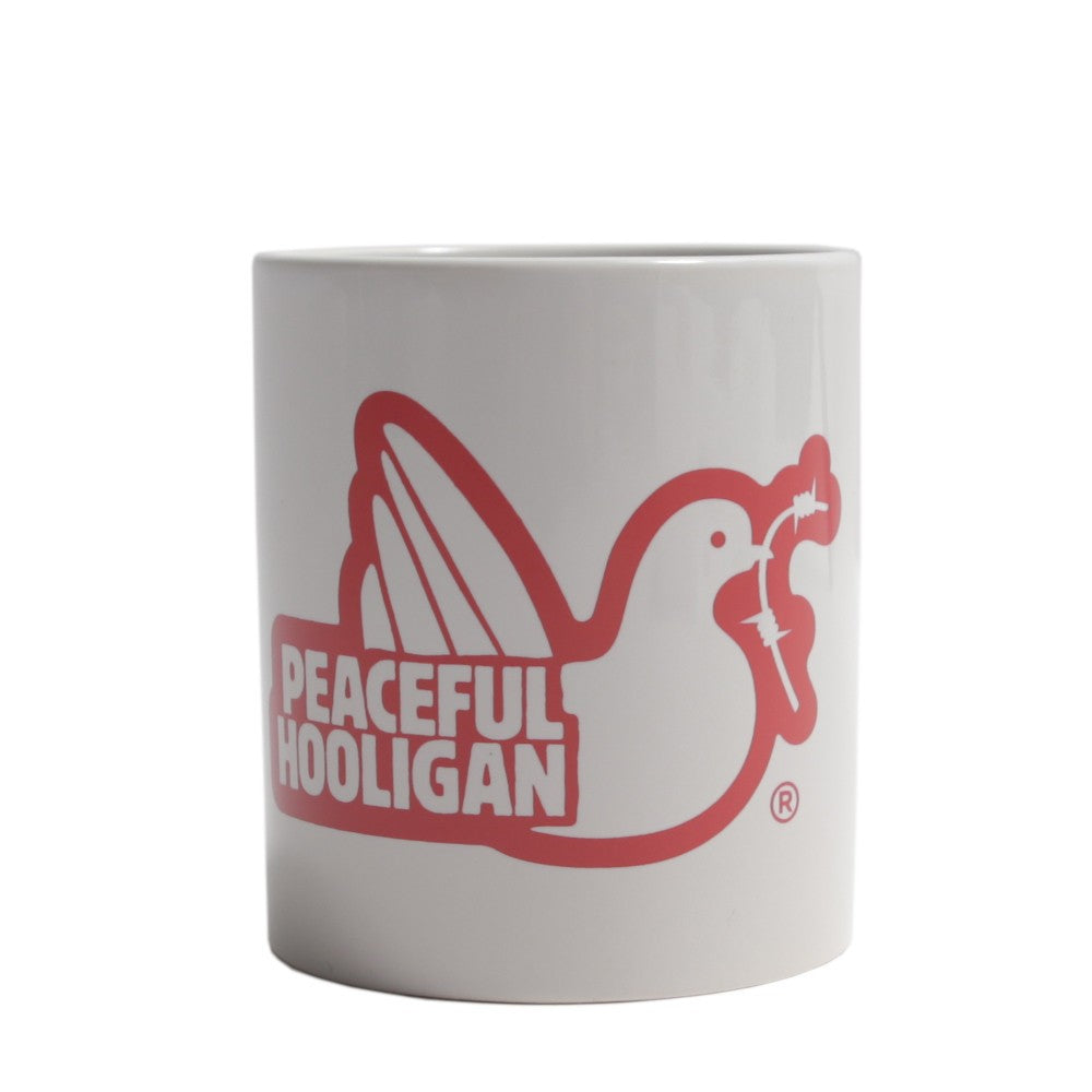PEACEFUL HOOLIGAN DOVE MUG RED KUBEK