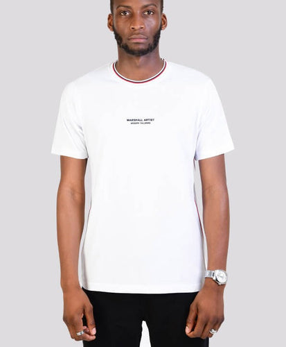 MARSHALL ARTIST TRICOLOR T-SHIRT WHITE