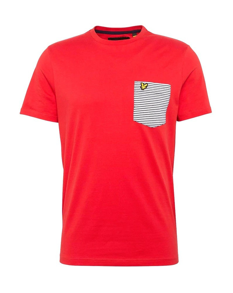 LYLE & SCOTT STRIPE POCKET T-SHIRT