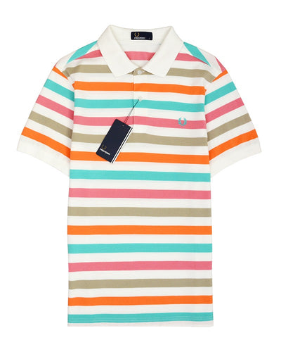 FRED PERRY DEGRADED STRIPE SHIRT POLO
