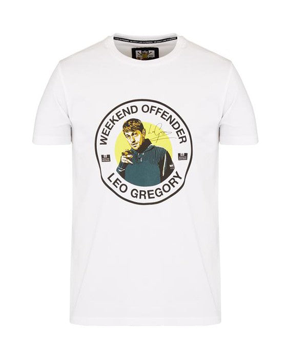 WEEKEND OFFENDER LG SIGNATURE TEE WHITE T-SHIRT