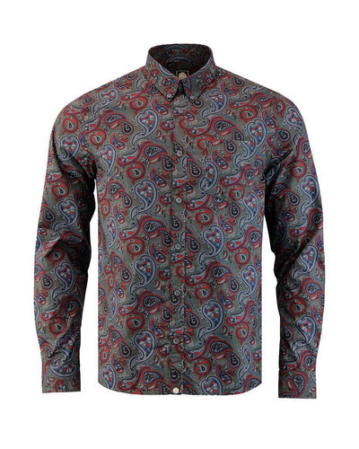PRETTY GREEN PAISLEY PRINT SHIRT KOSZULA