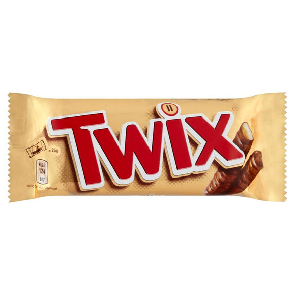 Twix Chocolate Biscuit Twin Bars 50g