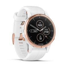 fēnix® 5S Plus - Sapphire, Rose Goldtone with  White Band