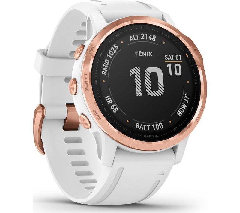 fēnix 6S - Pro and Sapphire editions - Rose Gold With White Band