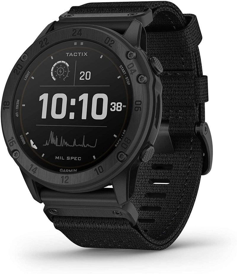 tactix Delta - Solar Edition - Solar-powered tactical GPS watch with nylon band