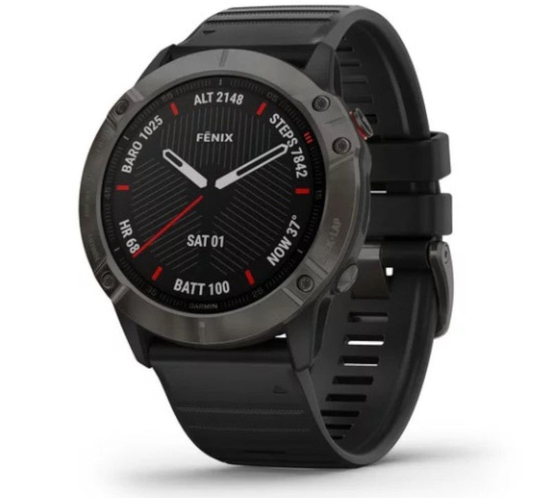 fēnix 6X - Pro and Sapphire editions - Saphire With Carbon Grey Black Band