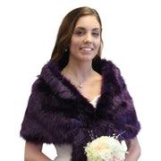 PURPLE FAUX FUR STOLE, SHRUG AND WRAP