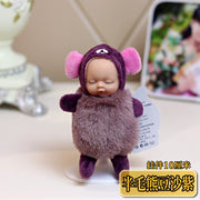 Cute Sleeping Baby Doll Key-chains For Doll Coat