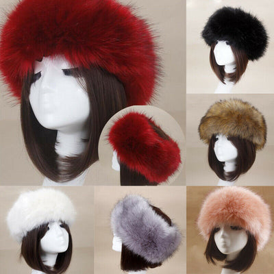 Faux Fur Headband Neck & Ear Warmer