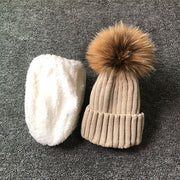 Baby & Teenager Knitted Hat Fleece Lining