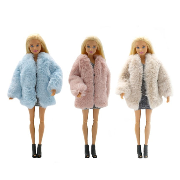 Rabbit Fur Plush For Barbie Dolls