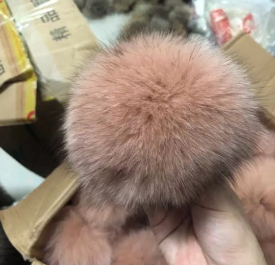 DIY Luxury Fur PomPom 100% Natural