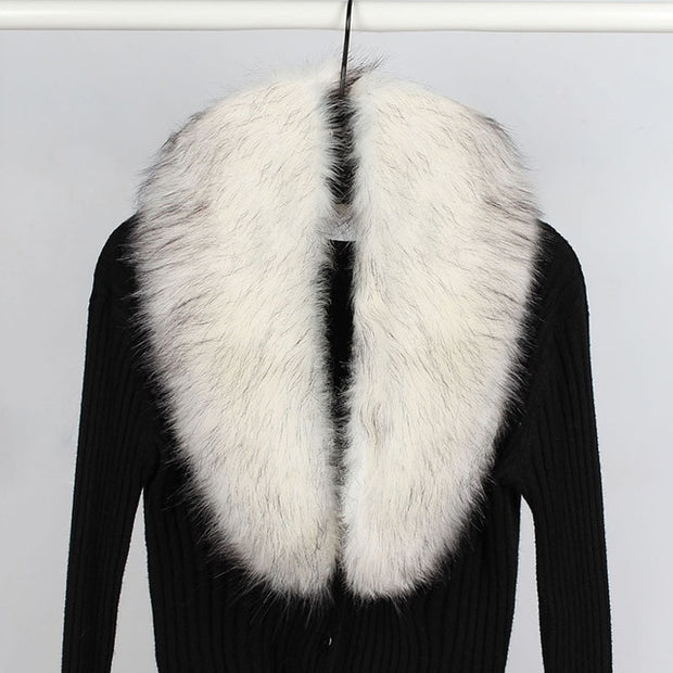 Faux Fur Collar Scarf 36 in