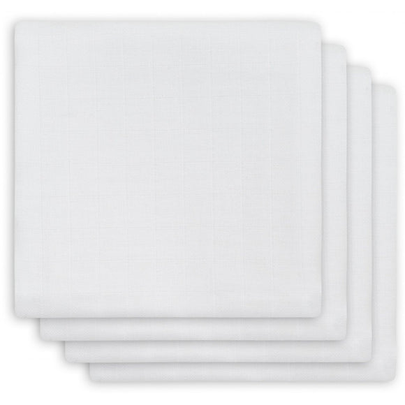 Jollein Draps bamboo small 70x70cm White (4pack) 435-851-00001