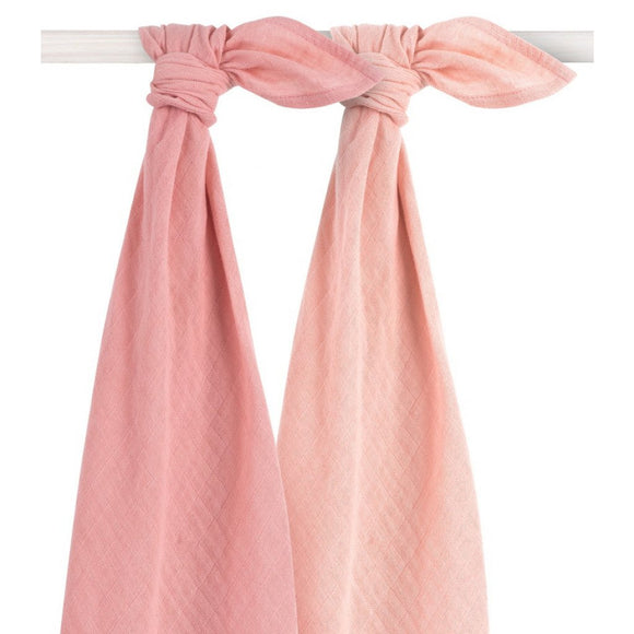 Jollein Drap bamboo large 115x115cm Pale Pink (2pack) 435-852-65310