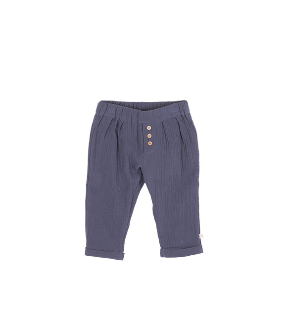 Les petites choses Pantalon en gaze de coton PACO faded blue