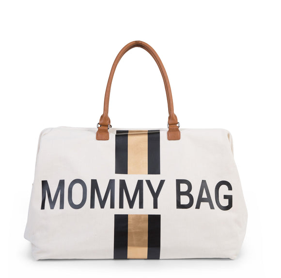 Childhome MOMMY BAG SAC A LANGER - beige noir or - CWMBBCOBL