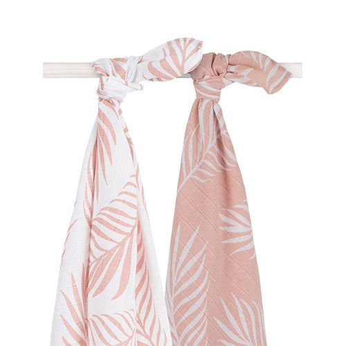 Jollein Couche hydrophile large 115x115cm Nature pale pink (2 pc) 535-852-65314