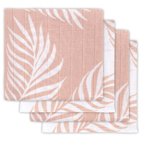 Jollein Couche hydrofile small 70x70cm Nature pale pink (4 pc) 535-851-65314
