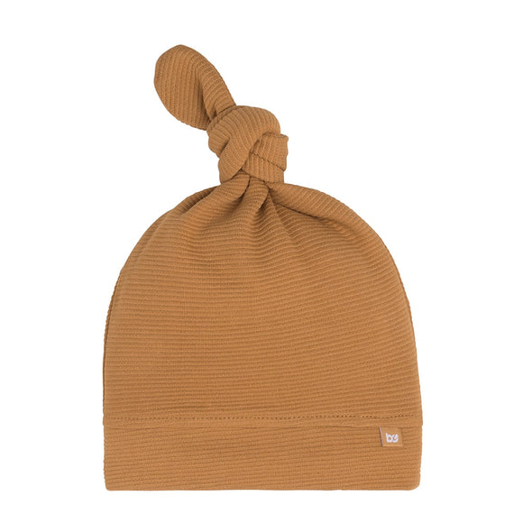 Baby's Only bonnet noué Pure caramel BO-341.325.037.48 taille 0-3 mois