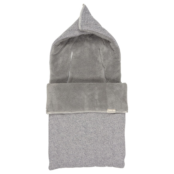 Koeka Chancelière de siège auto 0+ 3/5 points Vigo Teddy Sparkle grey/Steel grey 1069-0010 col 640/615