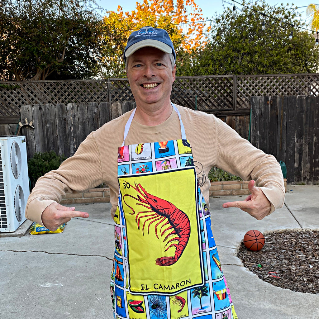 El Camaron Loteria Apron with Pocket