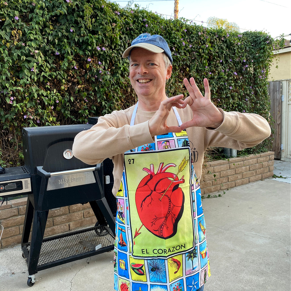 El Corazon Loteria Apron with Pocket