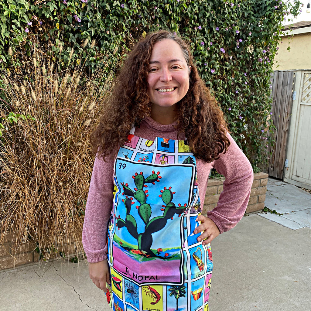 El Nopal Loteria Apron with Pocket